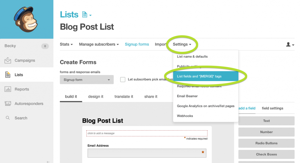 how to import a pdf omage into a mailchimp email